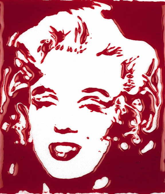 Bloody Marylin – c-print, 144 x 123 cm
