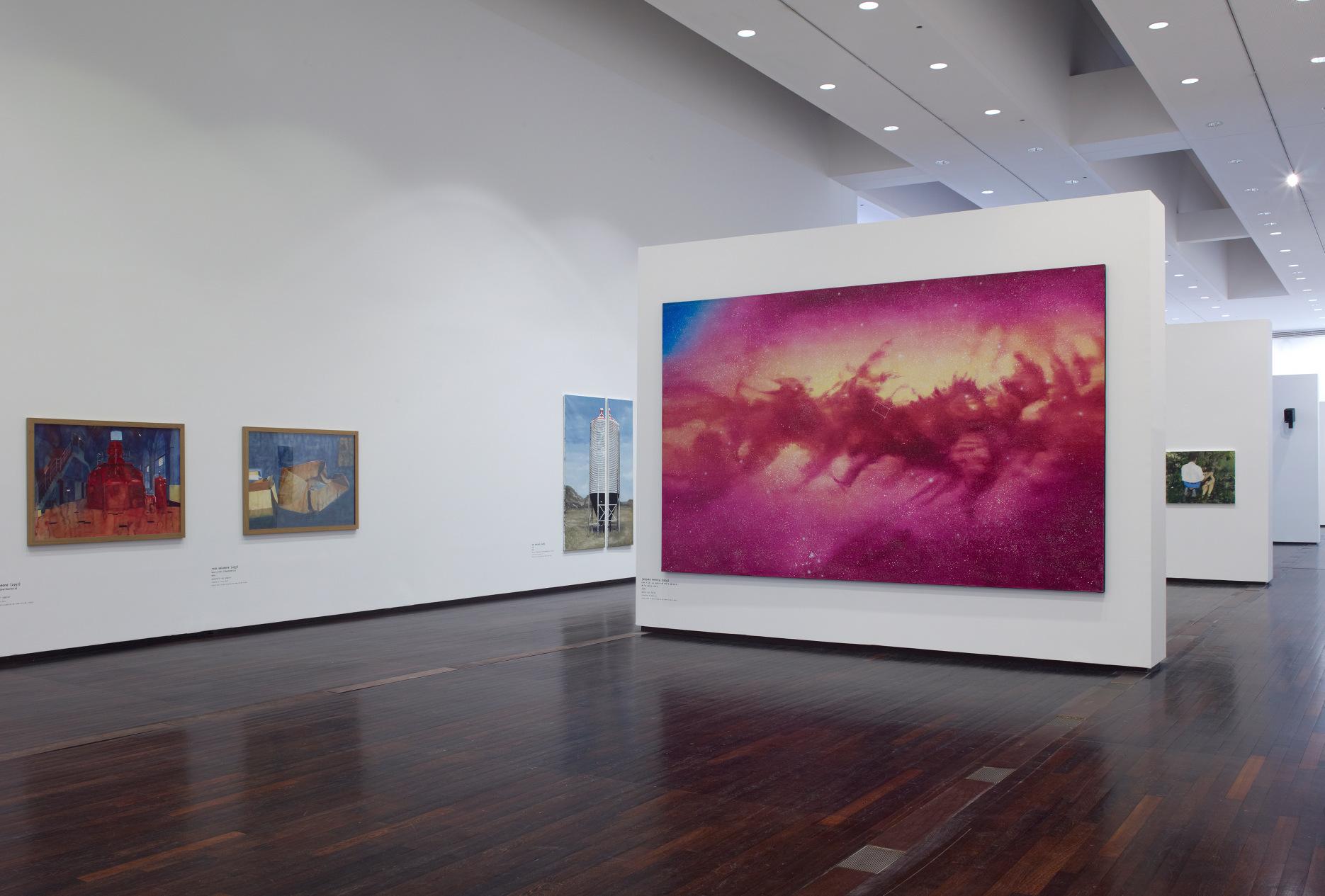Echelle (au premier plan), exposition Avec et sans peinture@(MAC/VAL, 2014)