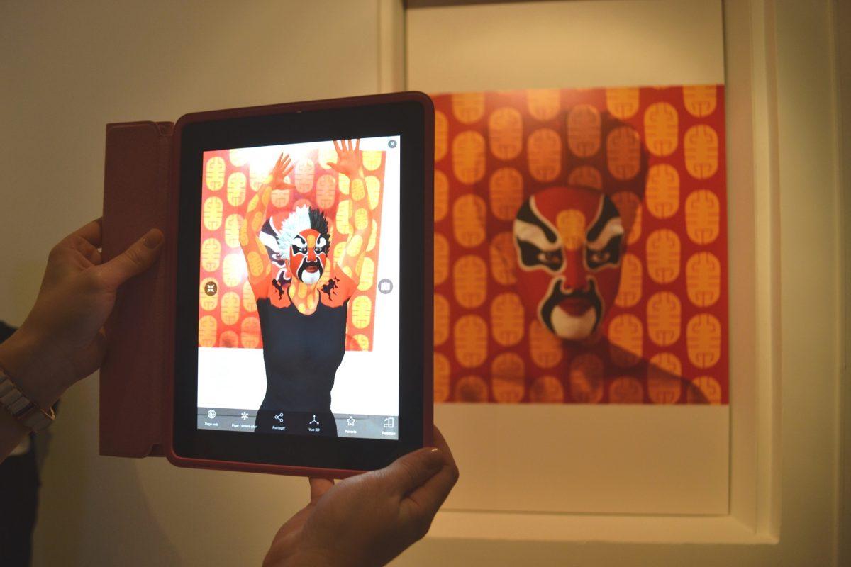 Peking Opera Facial Designs n°1, ORLAN, 2014