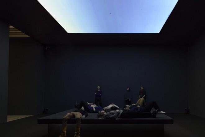 Vue de l'installation «Bed Down Location », Laura Poitras