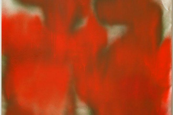<i>Sans Titre</i> (détail), Katharina Grosse, 1999.