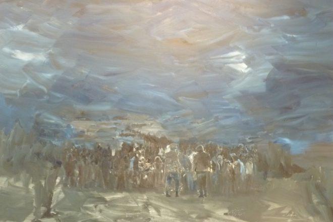 « Les Temps Modernes », Yan Pei-Ming, 2015