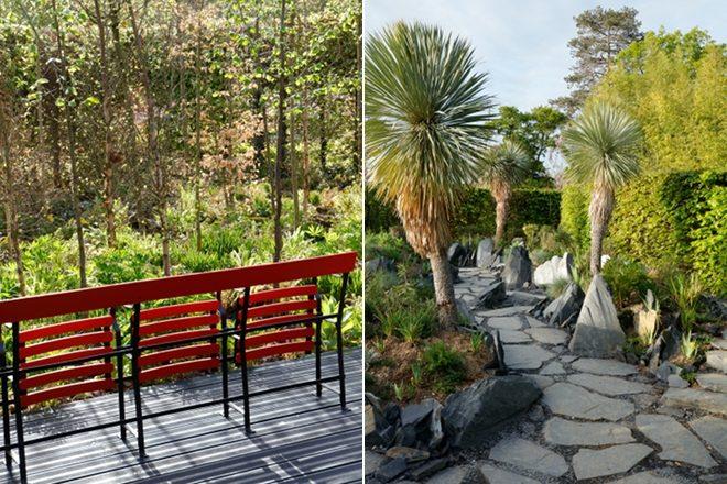 De gauche à droite : « Jardin du dernier acte » et « Jardin des émergences »<br><br>