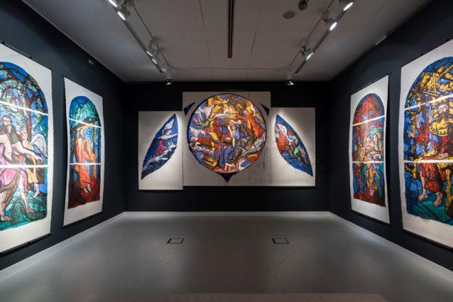 Vue de l'exposition au BAM, à Mons, Gérard Garouste