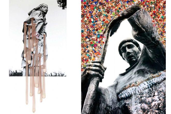 De gauche à droite : «Promenade fertile» et «La Vanité du foie», Francesca Di Bonito, 2014