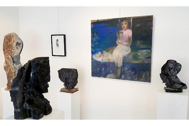 Vue de l'exposition « A fleur de pierre », Catherine Seher et Jean-Yves Gosti