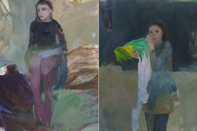 De gauche à droite, « La manche bleue » et « Quelque chose d'Alice », Catherine Seher