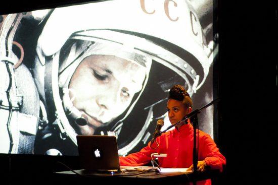 «Afrogalactica : A Brief History Of The Future» (performance), Kapwani Kiwanga, 2012