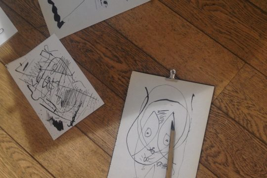 Dessins produits lors d'une séance animée par Davide Napoli à la galerie du Buisson