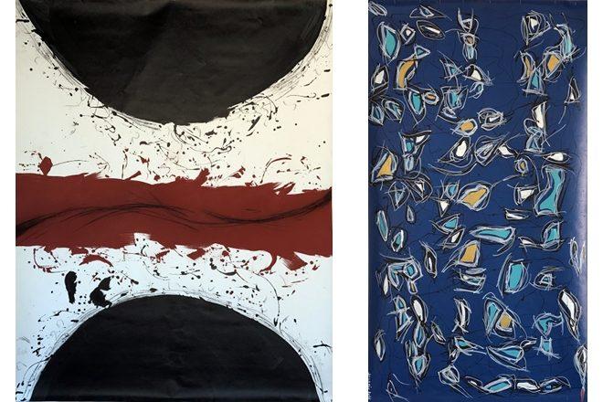 De gauche à droite : « Grand blason » de Francesca Caruana et « Cuca de Llum » de Patrick Soladie