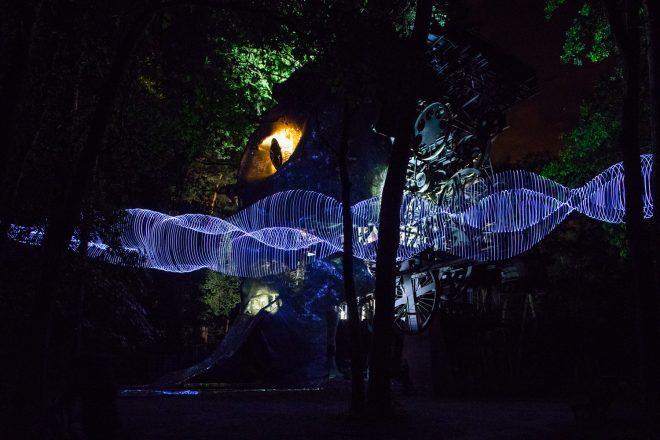 « Light show » (ici au Cyclop), Caty Olive et Laurent Friquet
