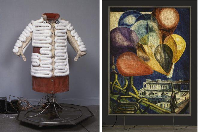 De gauche à droite : «Refigeration Coat» (1989) et «Prison Break» (2009), Ulf Rollof