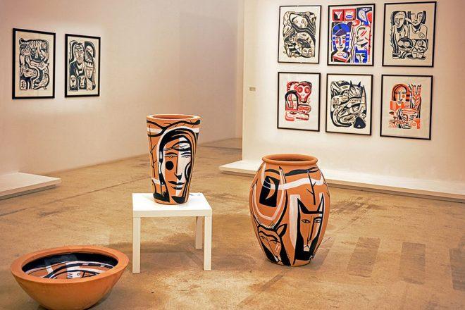 Vue de l'exposition de Laurent Corvaisier aux Pénitents noirs
