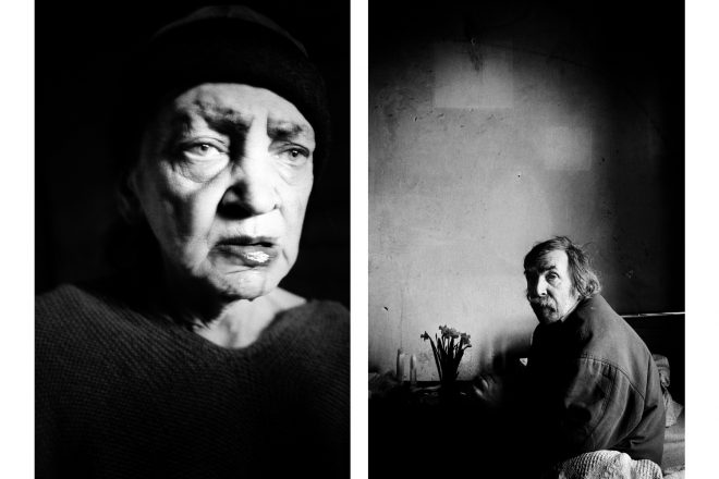 De gauche à droite: Ewa et Piotr, extraits de la série «Ewa & Piotr», Lorenzo Castore