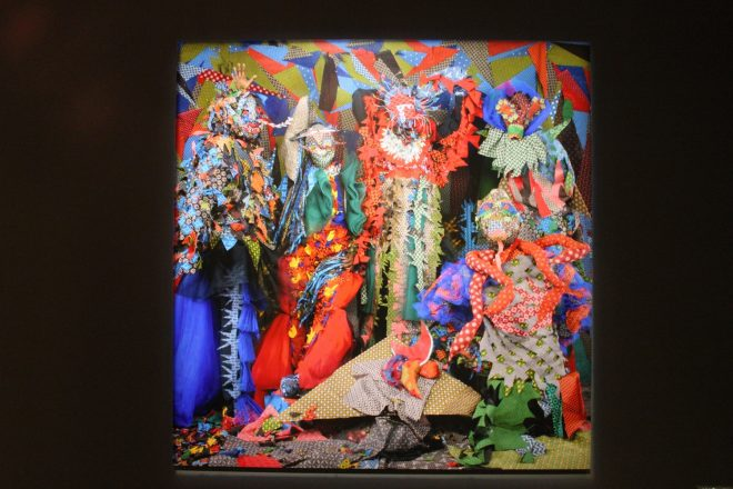 « Les êtres d'Africadia », Siwa Mgoboza. Vue de l'exposition « Déviations »