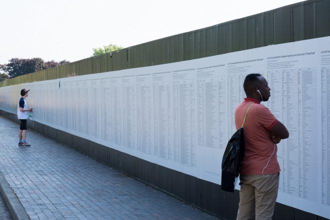 « The List of 34,361 documented deaths of asylum seekers (…) », Banu Cennetoğlu, 1993-2018