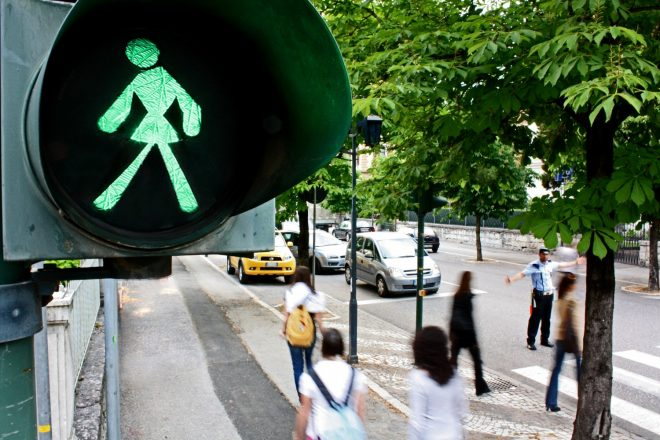 «Untitled 2005 (Green Woman on the Traffic Light)», Anna Scalfi, 2005
