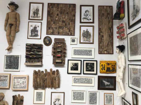 Vue de l'espace investi par la galerie Béatrice Soulié