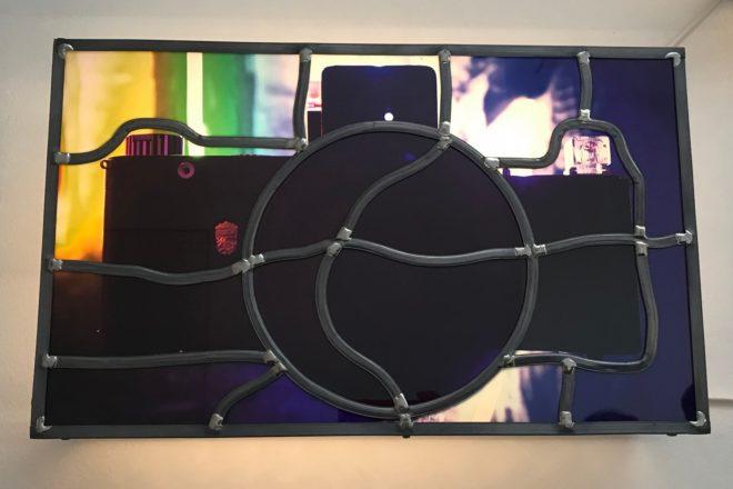 Détail de l'installation «Vitraux Mobiles», Sarkis, 2019