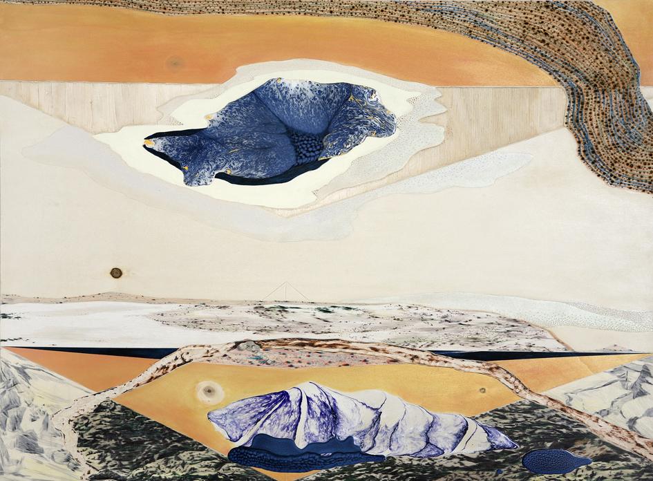 YOON Ji-Eun, Je vois les paysages rêvés, (60 X 80 cm), 2017.
