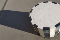 L'ombre d'une colonne de Buren est sans rayures