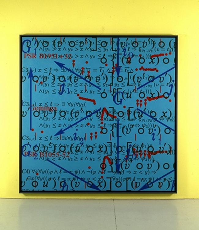 Saturation 4, acrylique sur toile (200 x 200 cm)
