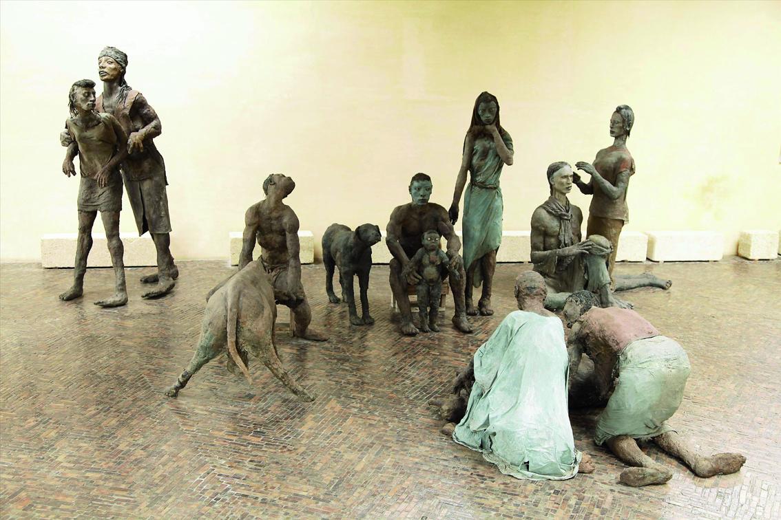 « Scène familiale Peulh », Ousmane Sow