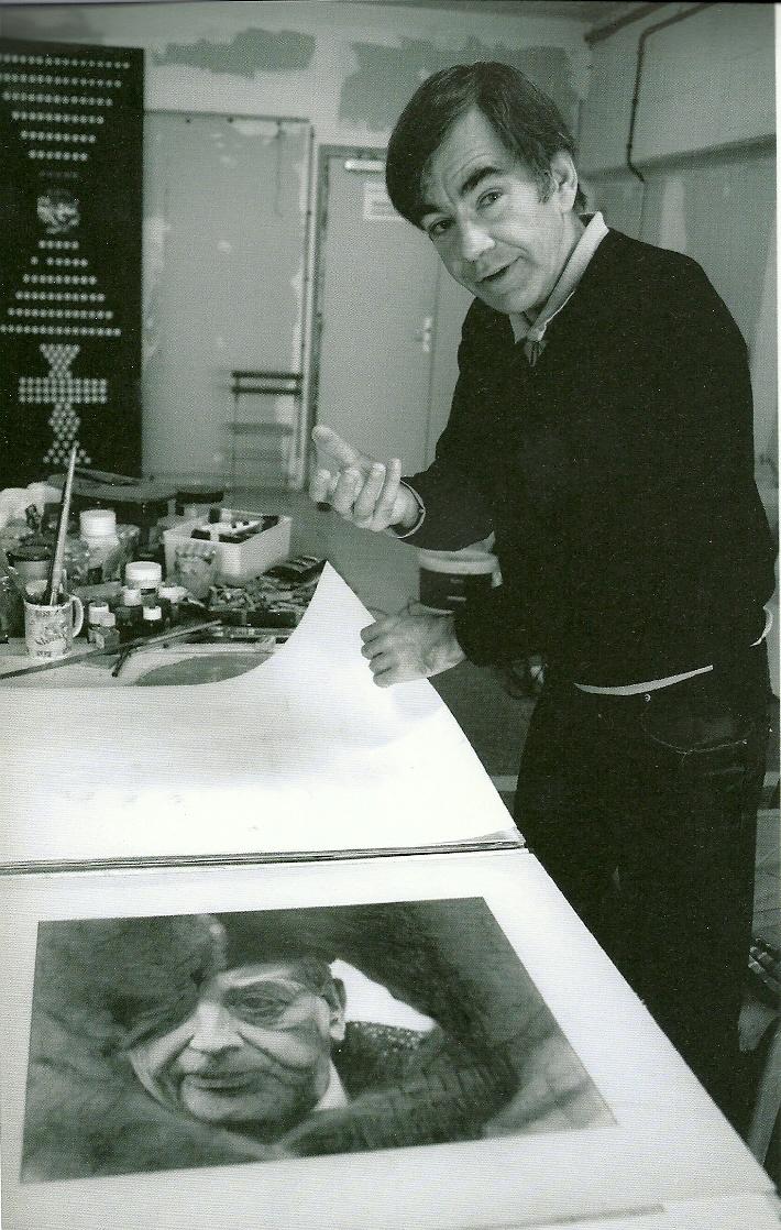 Bruno Mendonça dans son atelier@en 2010