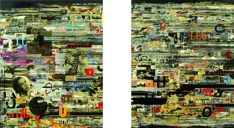Florent Chopin | Attention, désir fragile, diptyque, 160 x 260 cm | 2010