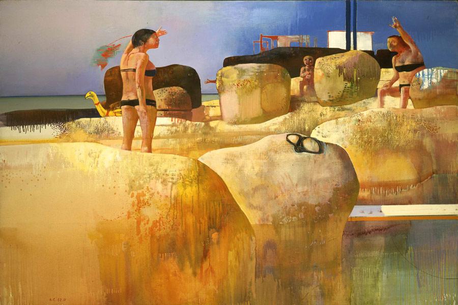 Paesaggio, (34 X 24.5 cm)