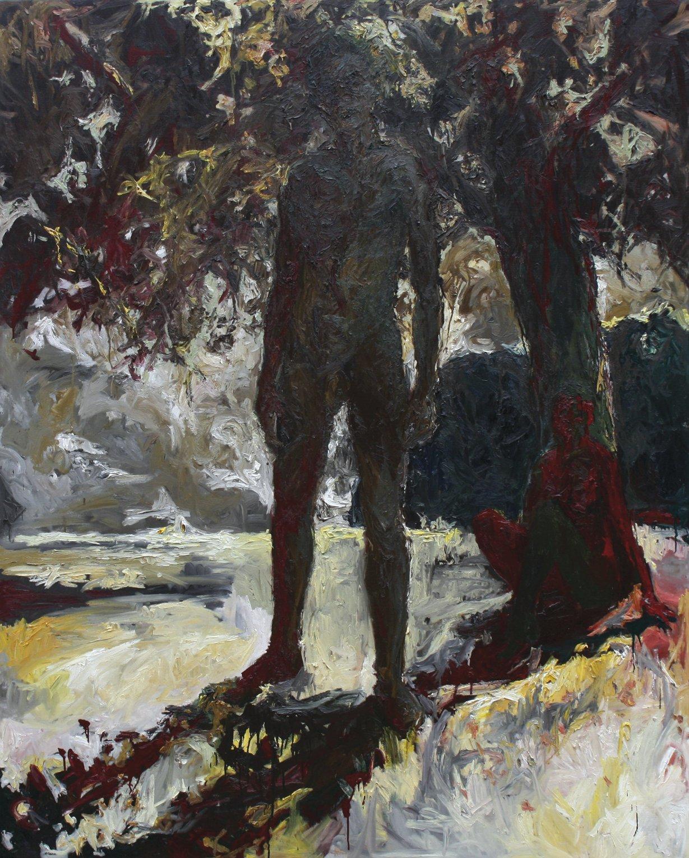 Sans titre, huile sur toile (210 x 170 cm)