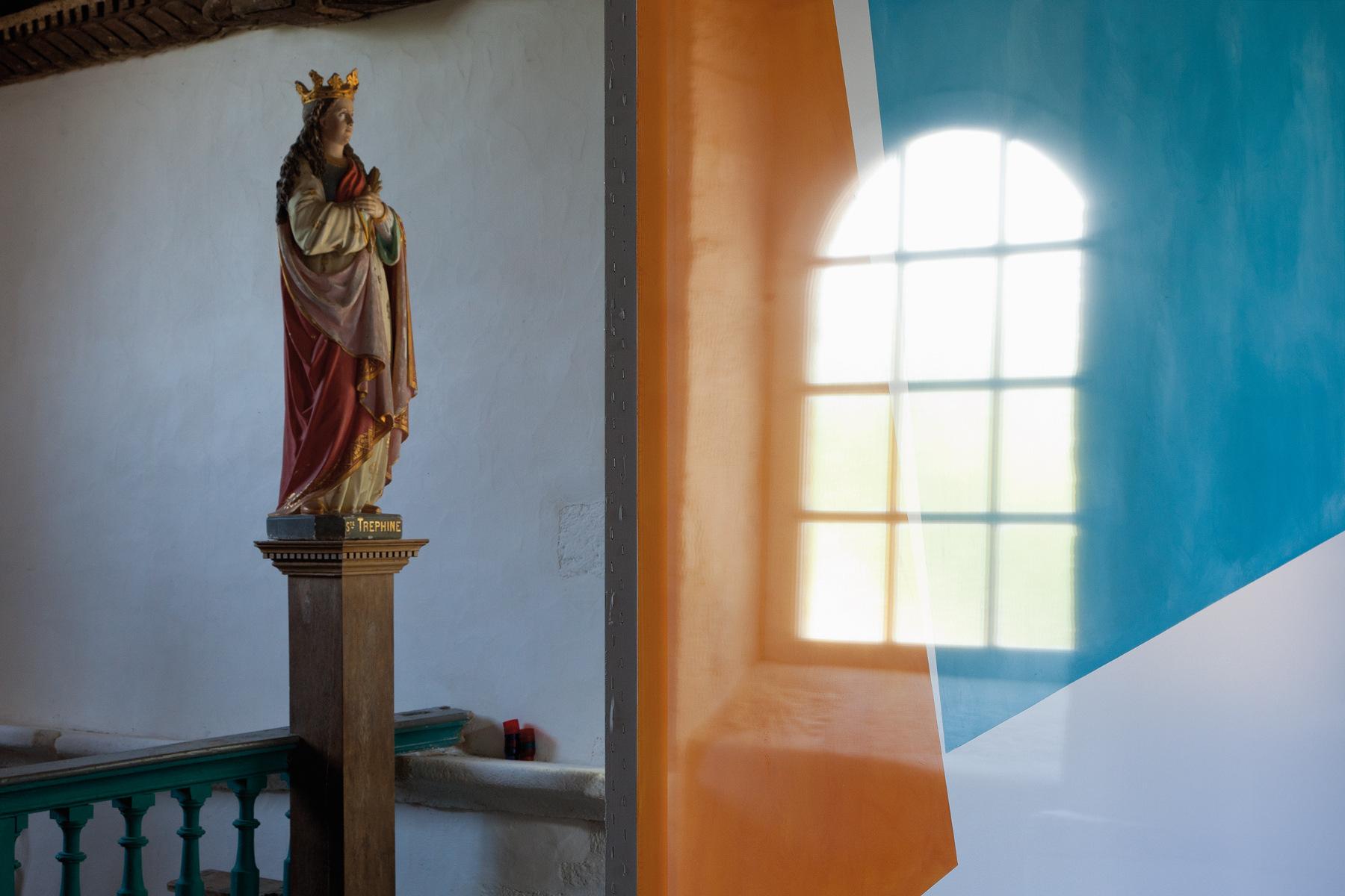 Peintures/écrans, chapelle de la Trinité (Bieuzy-les-Eaux)