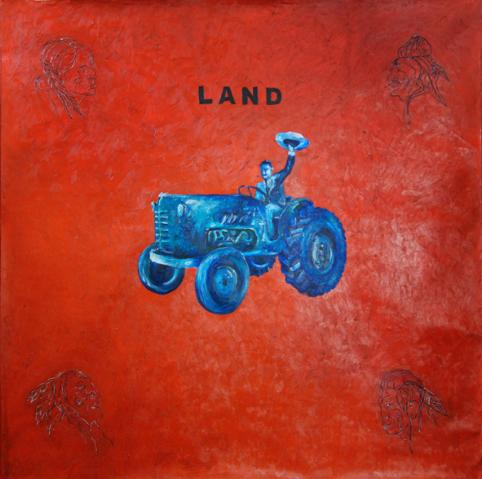 Land, huile sur toile (200 x 200 cm)