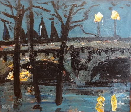 Veillée sur le pont