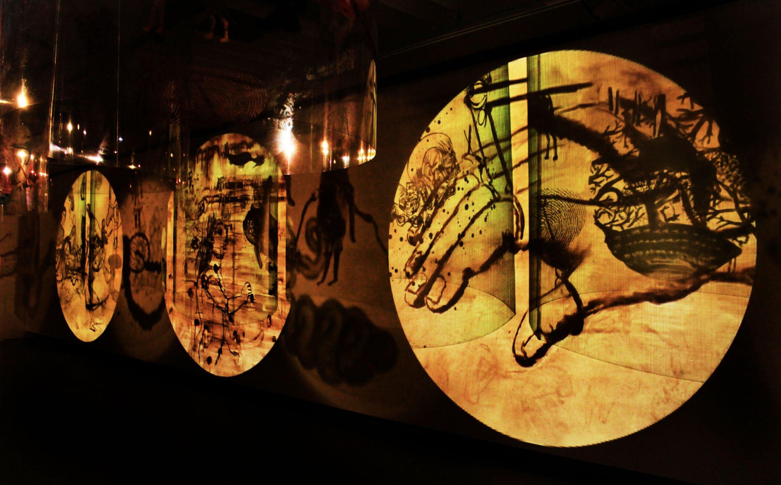 Remembering Mad Meg,@installation vidéo