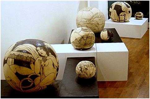 Vue de l'exposition Dolce Vita