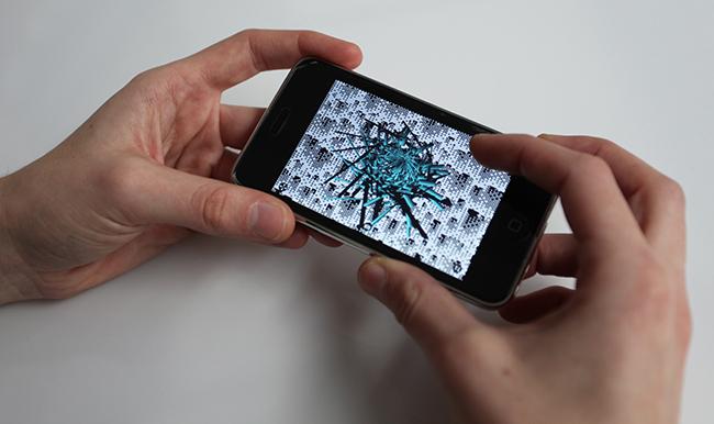 PixelSnow de Miguel Chevalier, œuvres pour iPhone@ proposées au téléchargement.| |
