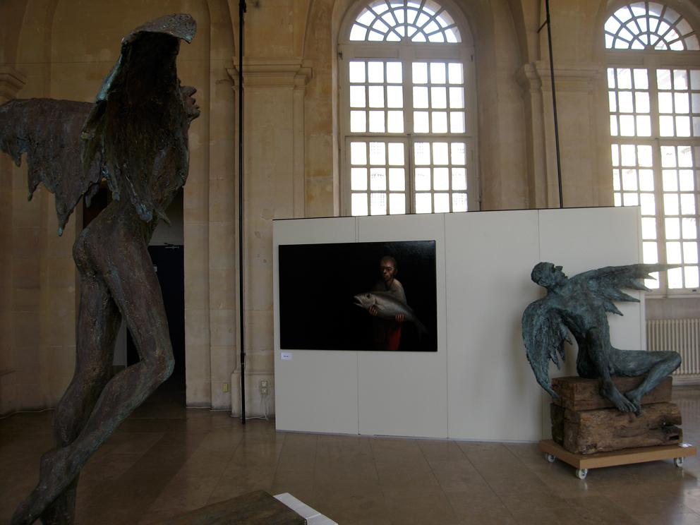 Sculptures et toile
