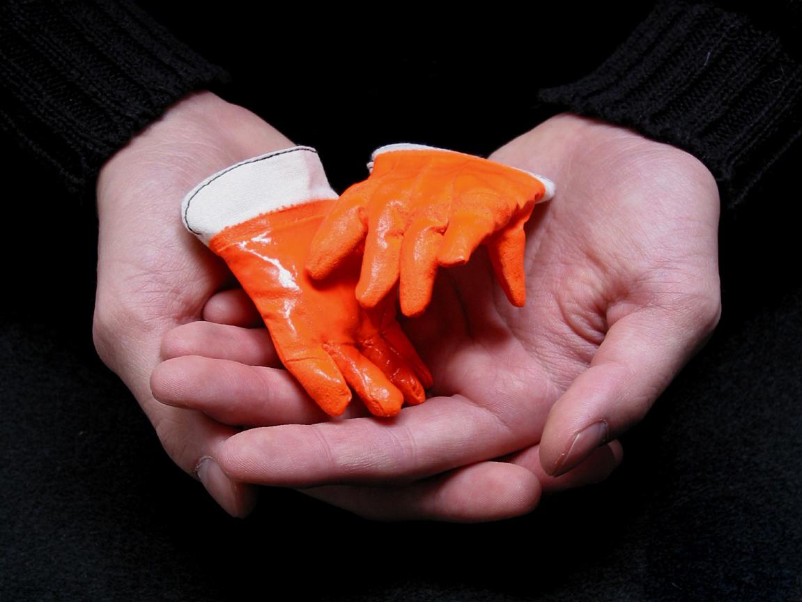 Rubberized work gloves