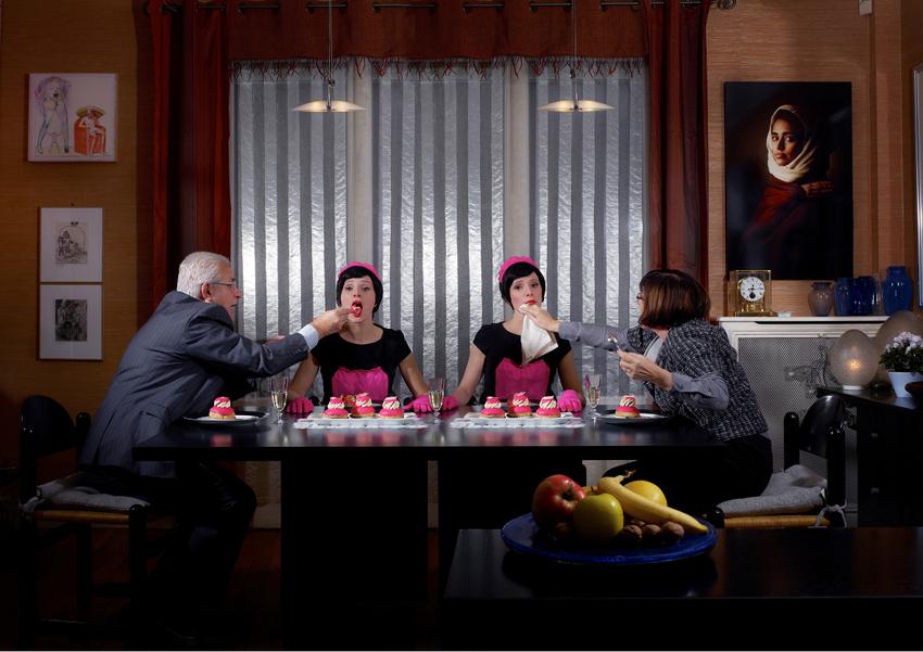 Art Maid, Pat Andrea, salle à manger des Deret