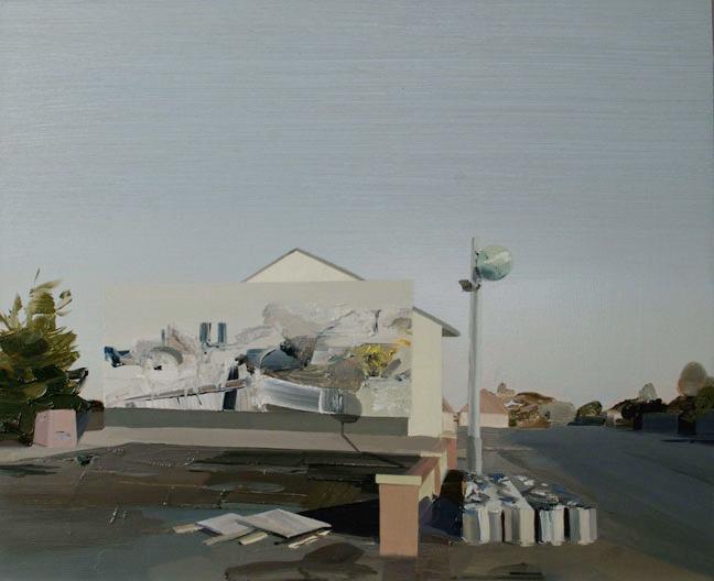 La galerie dublinoise@ Mother's tankstation a vendu@10 peintures de Maired O'hEocha. Ici, Ballyedmond