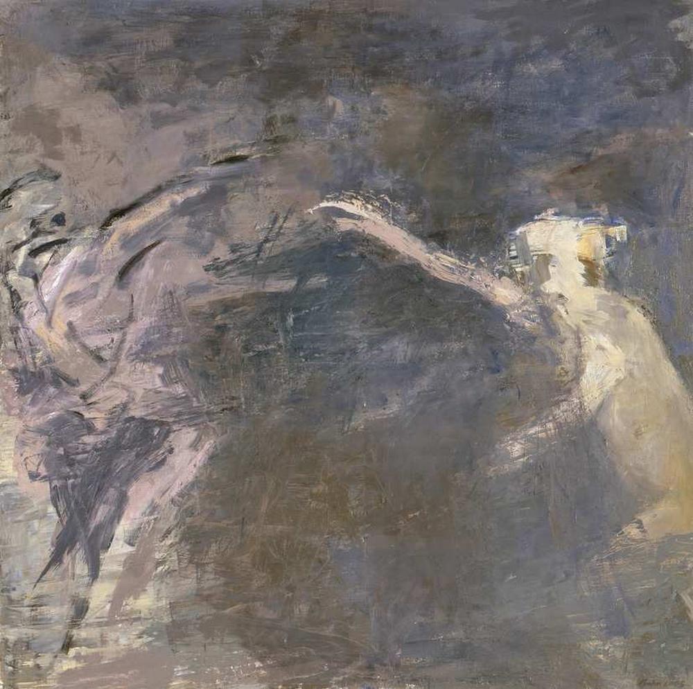 Appel, huile sur toile, 120 x 120 cm