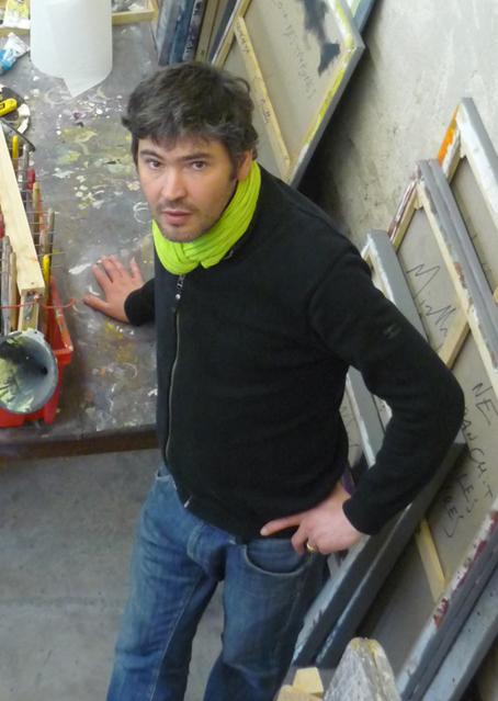 Christophe Miralles |dans son atelier.|