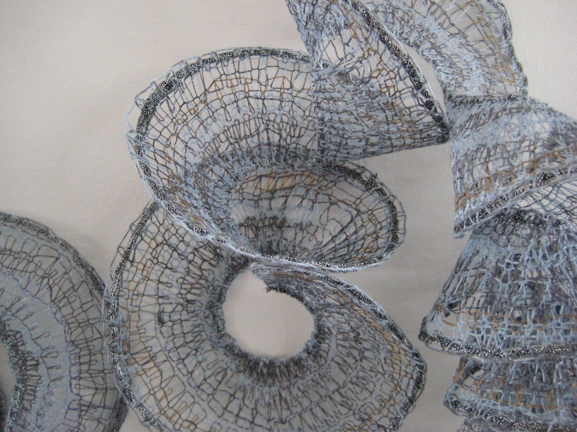 A Folly (détail), dentelle aux fuseaux, coton, polyester