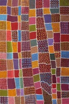 Coloured blankets, acrylique sur toile (90 x 60 cm)