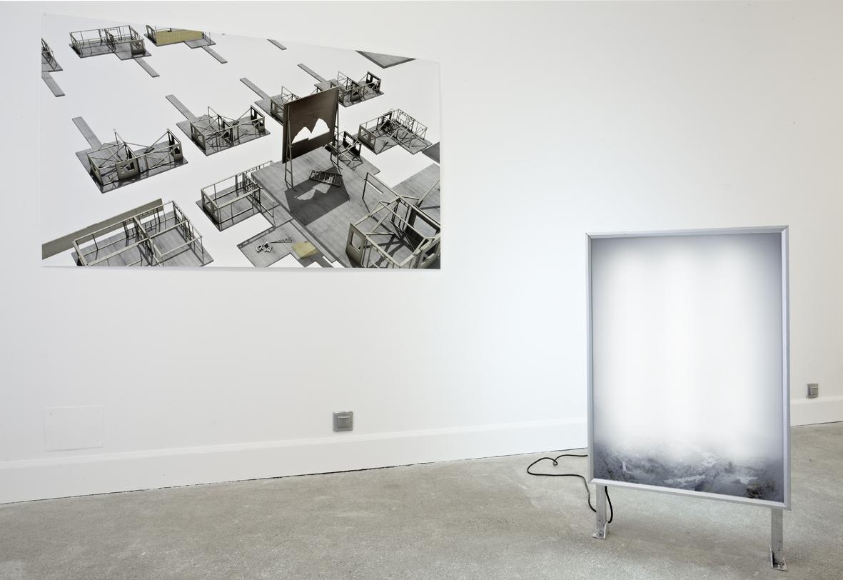 Nowhere, nulle part n'existe pas 1 et 2, installation, sculpture lumineuse et photographie