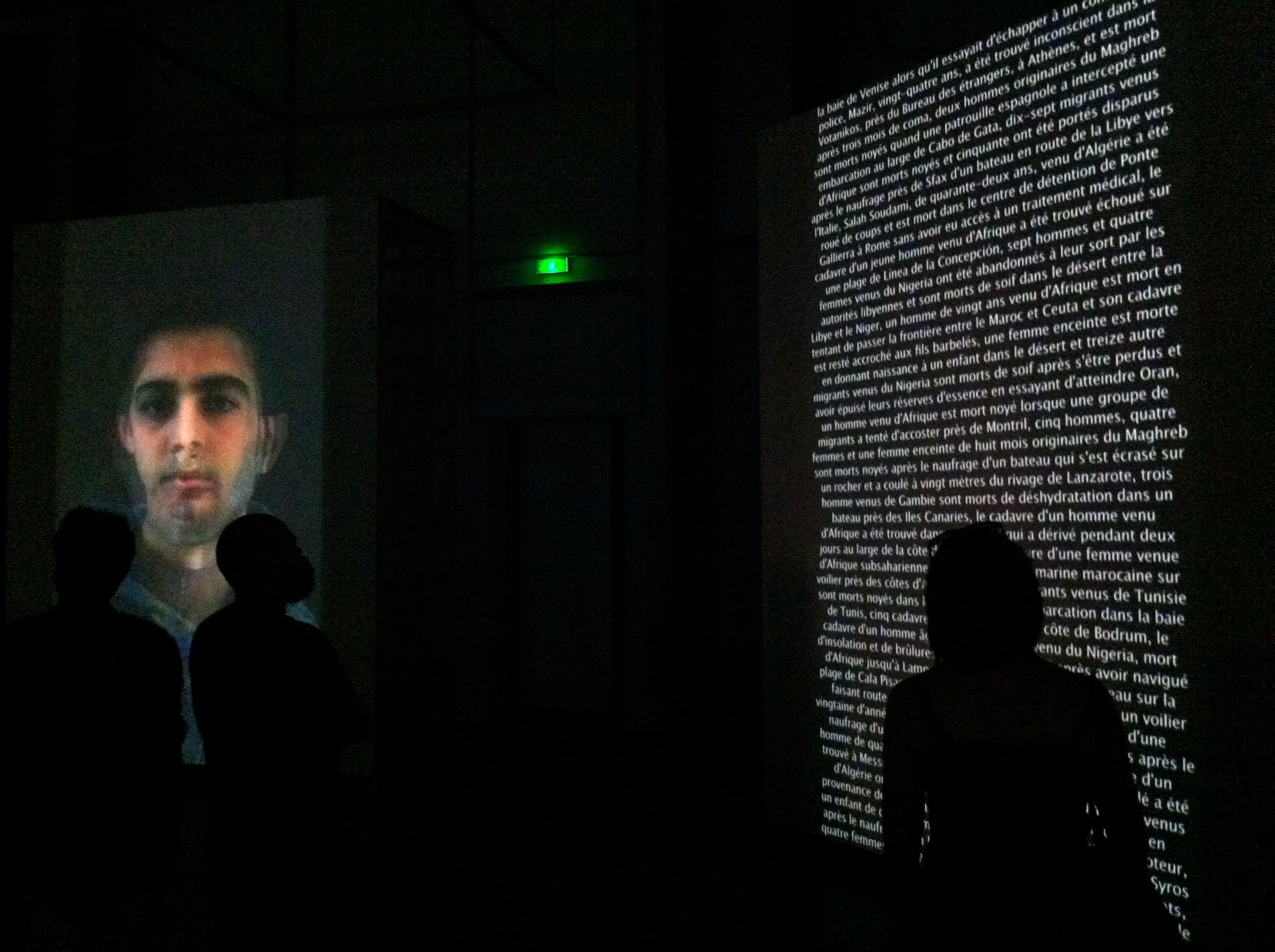 Odysseia, vue d'exposition au MuCEM, à Marseille