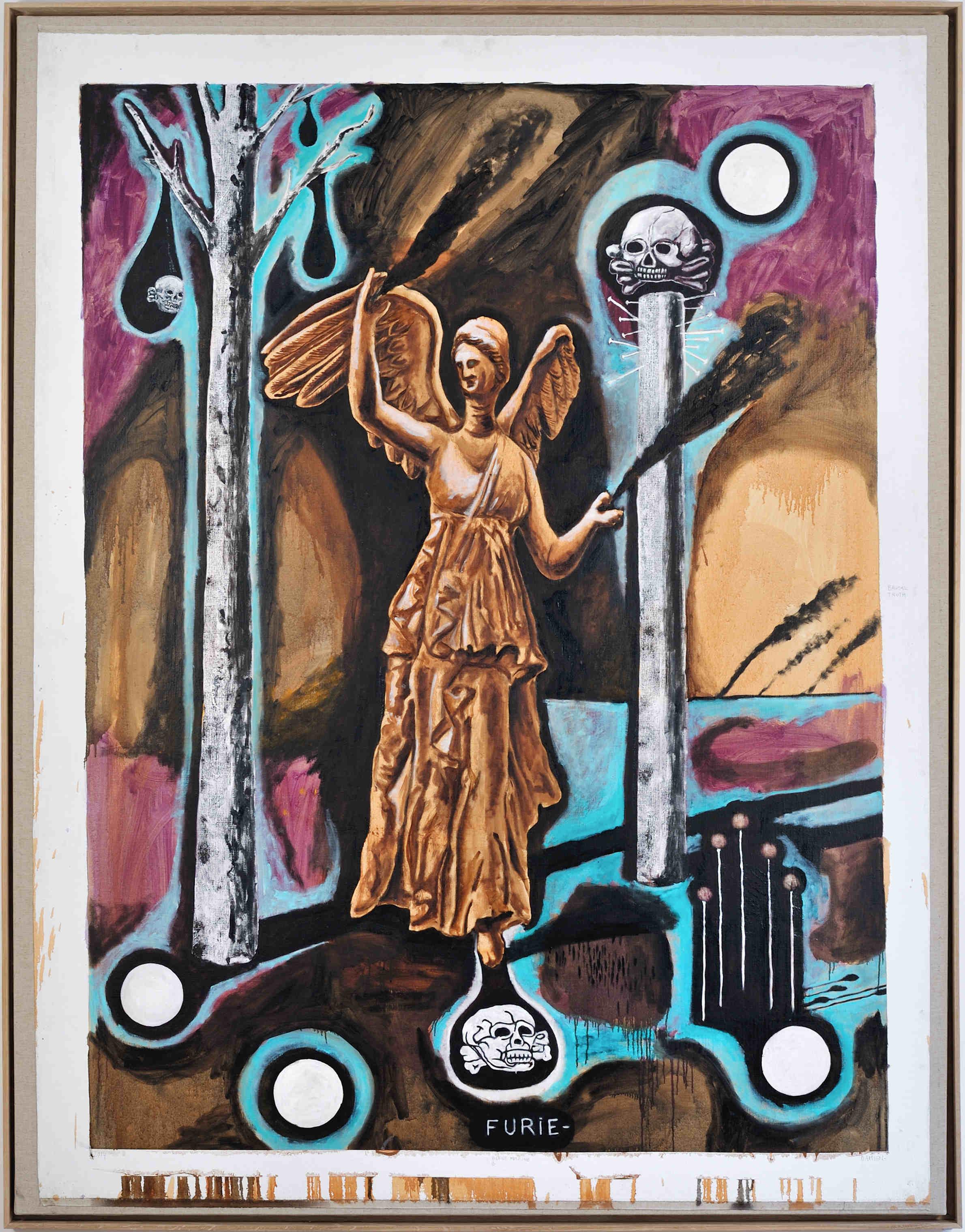 Furie, huile sur toile (224 x 178 cm)