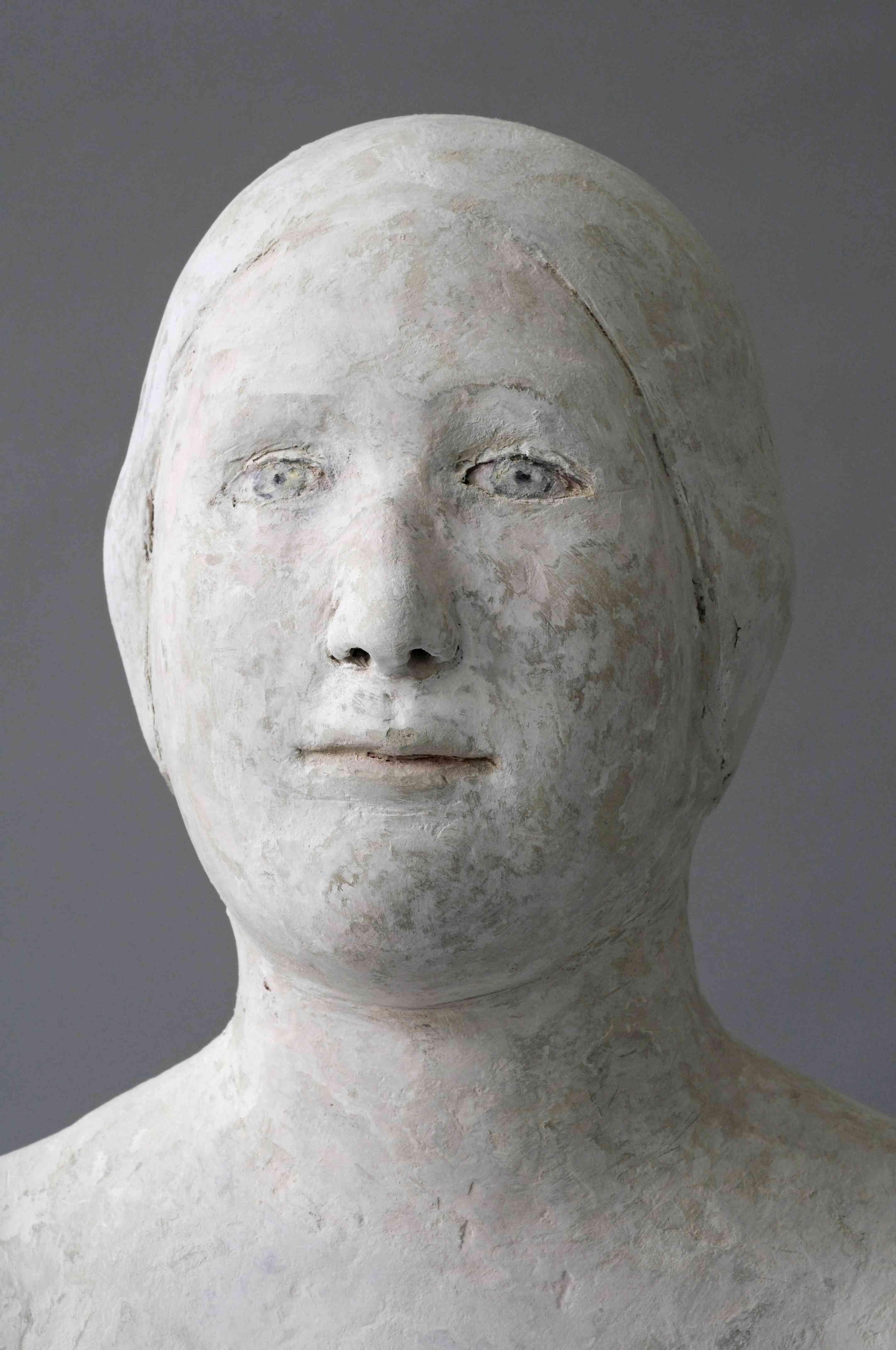 Amélie, détail, papier mâché, 106 cm