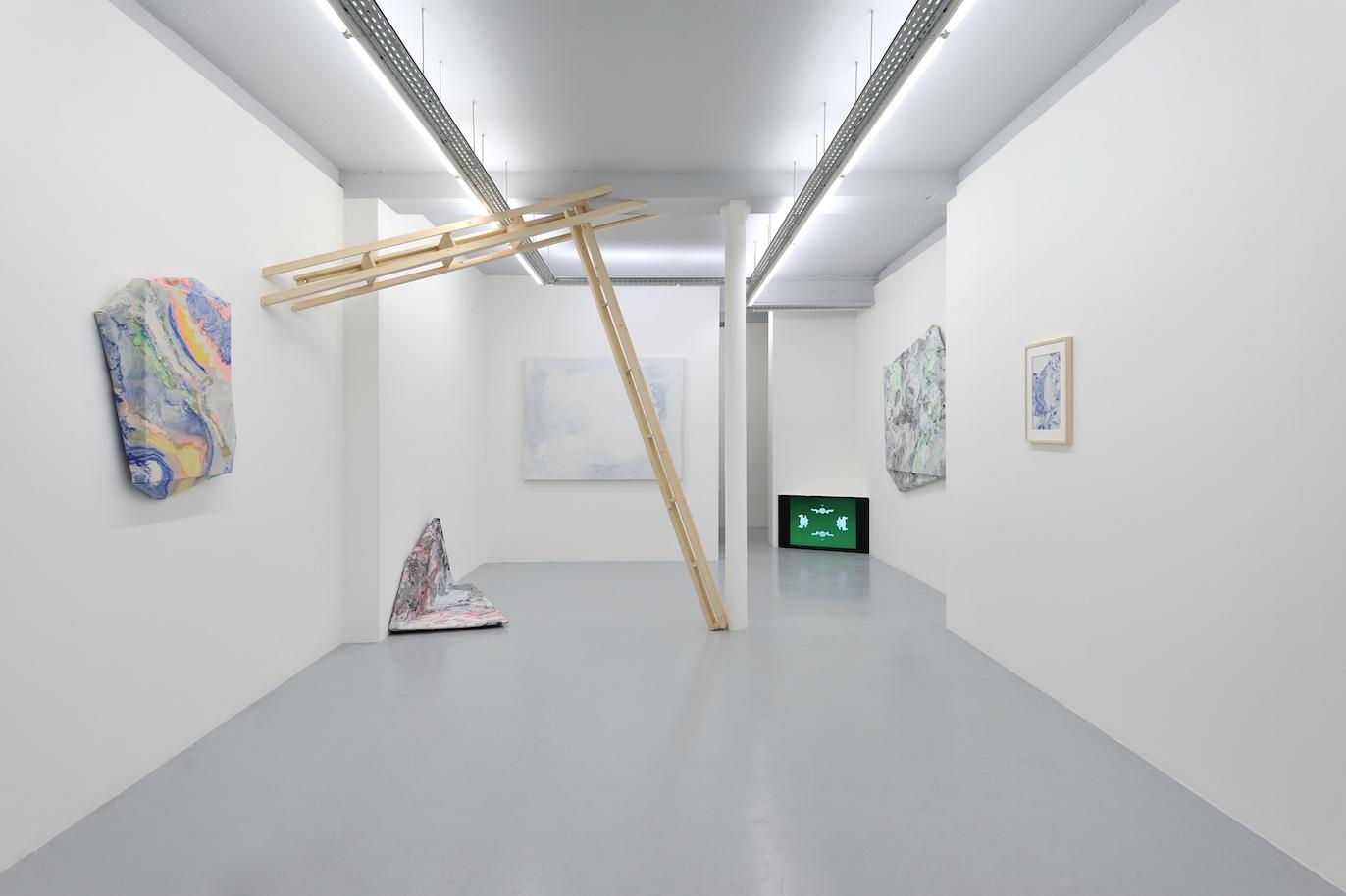 Vue d'exposition@à la galerie Olivier Robert